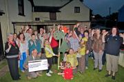 Llandovery carnival committee present charity cheques
